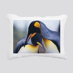 Penguins Rectangular Canvas Pillow