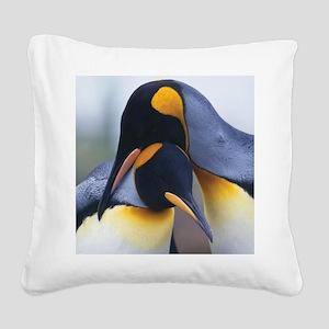 Penguins Square Canvas Pillow