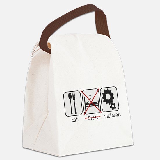 Cute Programmer Canvas Lunch Bag