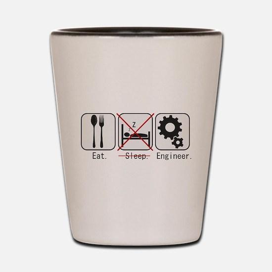 Funny Engineers biomedical Shot Glass