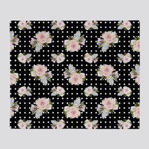 Home Decor Floral Pastel Rose Succul Throw Blanket