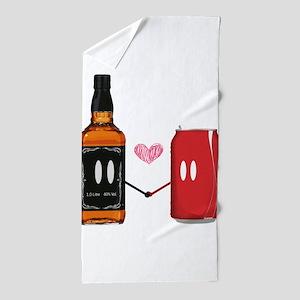 Jack and coke Beach Towel