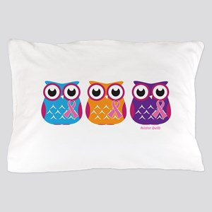 3 Ribboned Owls Pillow Case