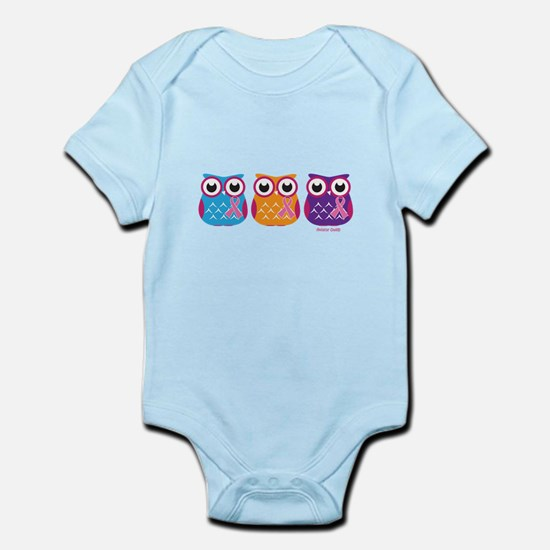 3 Ribboned Owls Body Suit