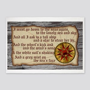 Harvest Moons Compass Rose 5'x7'Area Rug