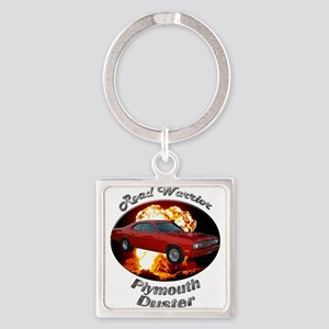 Plymouth Duster Square Keychain