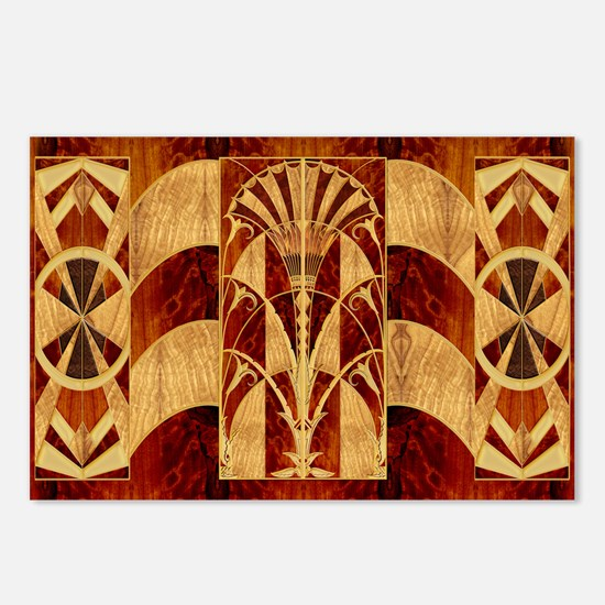 Harvest Moons Art Deco Panel Postcards (Package of