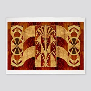 Harvest Moons Art Deco Panel 5'x7'Area Rug