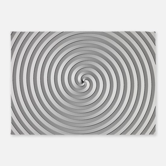 Silver Spiral 5'x7'area Rug
