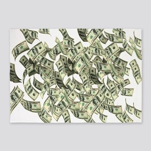 Raining BIG MONEY 5'x7'Area Rug
