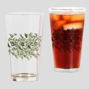 Raining BIG MONEY Drinking Glass