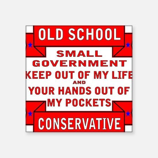 """Cute Anti big government Square Sticker 3"""" x 3"""""""