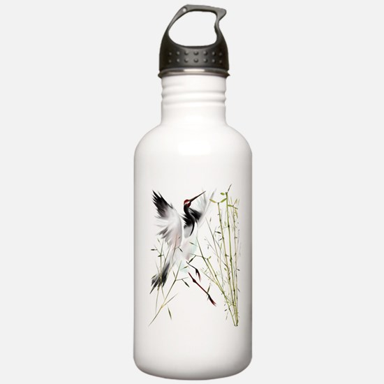 One Crane Trans.png Water Bottle