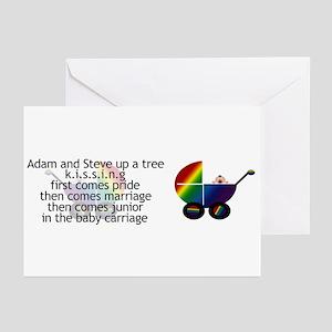 Adam & Steve KISSING Greeting Cards (Pk of 10)