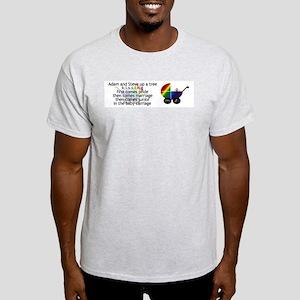 Adam & Steve KISSING Ash Grey T-Shirt