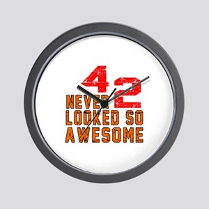 42 Never looked So Awesome Wall Clock