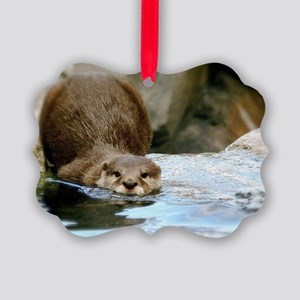 River Otter (gone Fishin') Picture Ornament