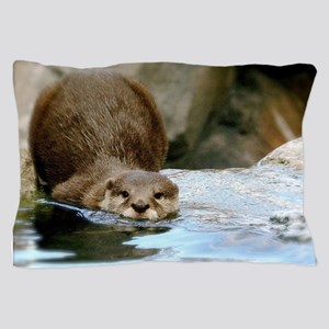River Otter (Gone Fishin') Pillow Case