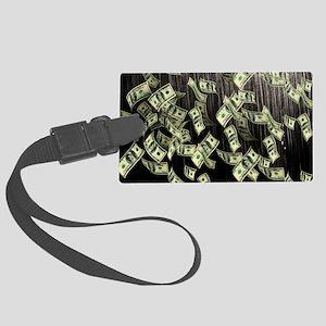 Raining Cash Money Large Luggage Tag