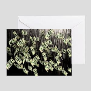 Raining Cash Money Greeting Card