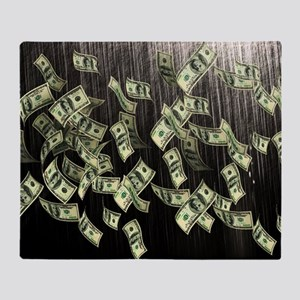 Raining Cash Money Throw Blanket