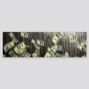 Raining Cash Money Bumper Sticker