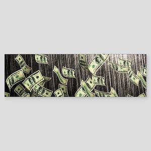 Raining Cash Money Bumper Sticker