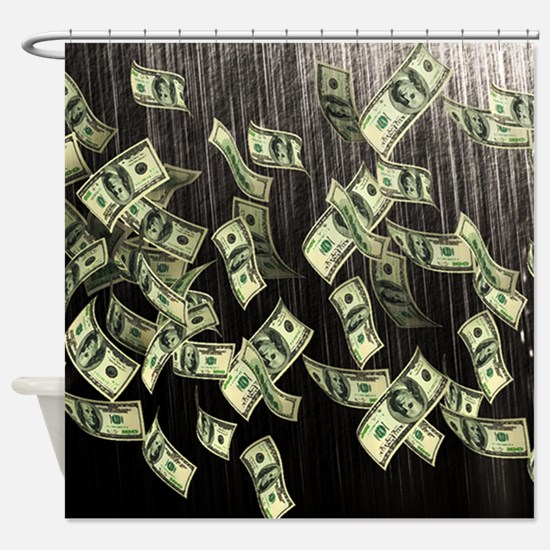 Raining Cash Money Shower Curtain