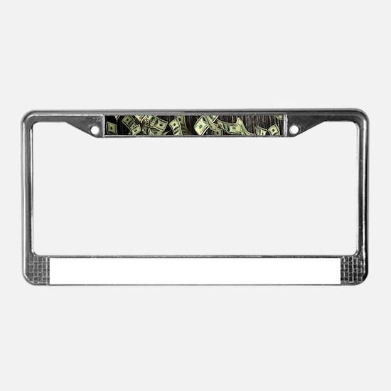 Raining Cash Money License Plate Frame