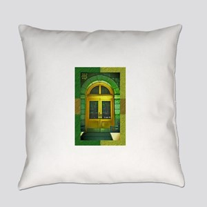 Door-gold-green-mexican-arched Everyday Pillow