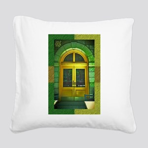 Door-gold-green-mexican-arche Square Canvas Pillow
