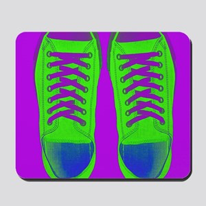 Purple Green Sneaker Shoes Mousepad