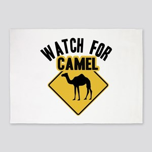 Watch For Camel 5'x7'Area Rug
