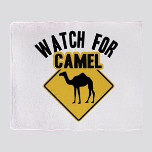 Watch For Camel Throw Blanket
