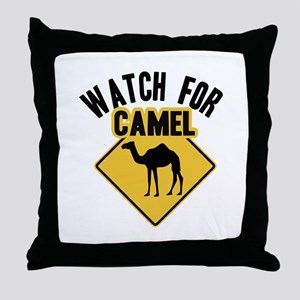 Watch For Camel Throw Pillow
