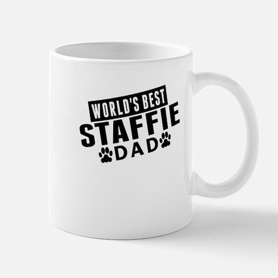 Worlds Best Staffie Dad Mugs