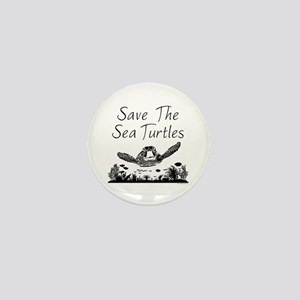 Save The Sea Turtles Mini Button