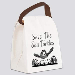 Save The Sea Turtles Canvas Lunch Bag