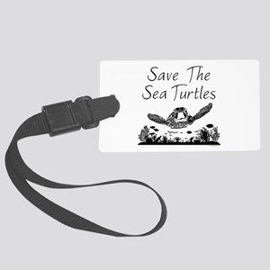 Save The Sea Turtles Luggage Tag