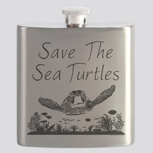 Save The Sea Turtles Flask