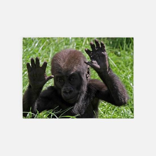 Gorilla20151002 5'x7'Area Rug