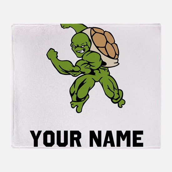 Turtle Mascot Throw Blanket