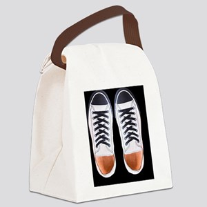 Black and White Sneaker Shoes Canvas Lunch Bag