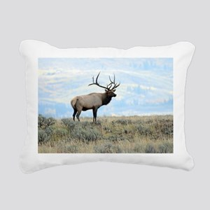 Rocky mountain elk Rectangular Canvas Pillow