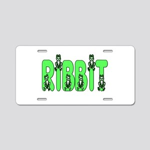 Ribbit Aluminum License Plate
