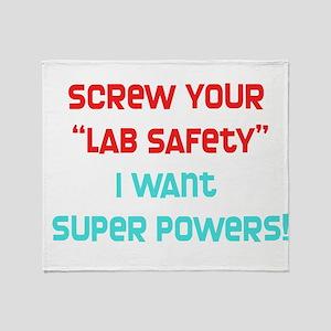 Lab Safety Throw Blanket