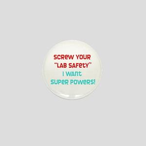 Lab Safety Mini Button