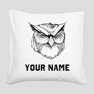 Owl Square Canvas Pillow