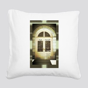 Door-Arch-Earth-Tones Square Canvas Pillow