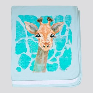 friendly baby giraffe baby blanket